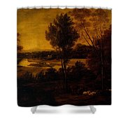 The Thames From Richmond Hill Shower Curtain
