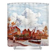 The Thames Shower Curtain