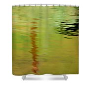 The Thin Red Line Shower Curtain
