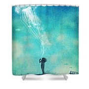 The Thing About Jellyfish Shower Curtain
