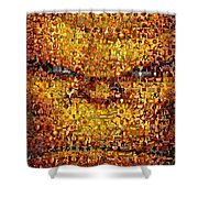 The Thing Mosaic Shower Curtain