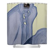 The Thinker With Memory 1,5 Tb Shower Curtain