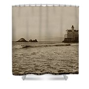 The  Third Cliff House And Seal Rocks From Pier, San Francisco,  Circa 1895 Shower Curtain