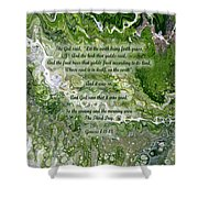 The Third Day With Scripture Shower Curtain