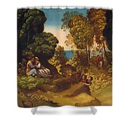 The Three Ages Of Man 1515 Shower Curtain
