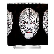 The Three Faces Shower Curtain