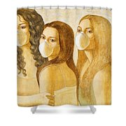 The Three Graces Shower Curtain