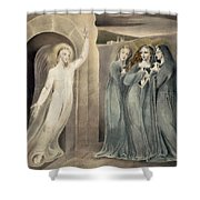 The Three Maries At The Sepulchre Shower Curtain