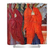 The Three Marys At The Tomb Fragment 1311 Shower Curtain