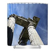 The Three Pillars Shower Curtain