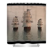 The Three Ships Shower Curtain
