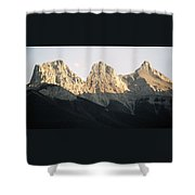The Three Sisters Of The Rockies Shower Curtain
