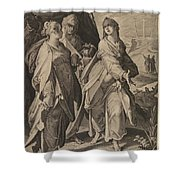 The Three Women Returning From The Tomb Shower Curtain