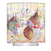 The Three Worlds Shower Curtain