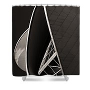 The Thrust Of Culture  Shower Curtain