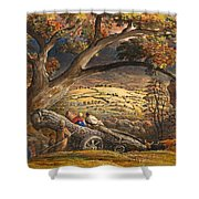 The Timber Wain Shower Curtain