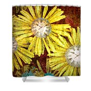 The Time Flowers Shower Curtain