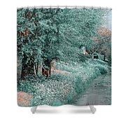 The Time Goes By. Nature In Alien Skin Shower Curtain