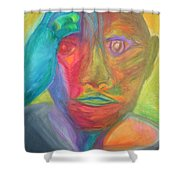 The Time Rider Shower Curtain