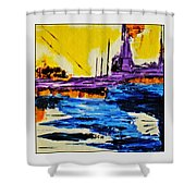 The Timeless Land - Number Five Shower Curtain