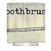 The Toothbrush Shower Curtain