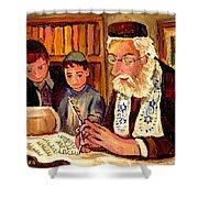The Torah Scribe Shower Curtain