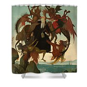 The Torment Of Saint Anthony Shower Curtain