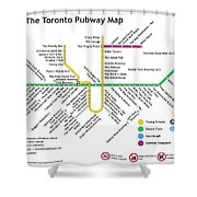 The Toronto Pubway Map Shower Curtain