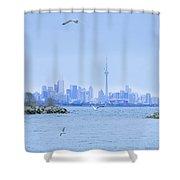 The Toronto Skyline Shower Curtain