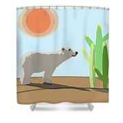 The Tourist Shower Curtain
