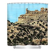 The Tower And The Castle Shower Curtain