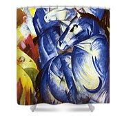 The Tower Of Blue Horses 1913 Shower Curtain
