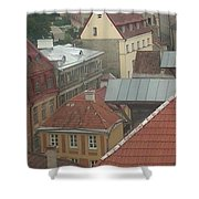 The Towers Of Old Tallinn Estonia Shower Curtain