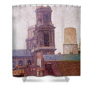 The Towers Saint Sulpice 1887 Shower Curtain