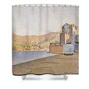The Town Beach Collioure Opus 165 Collioure La Plage De La Ville Opus 165 Shower Curtain
