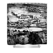 The Town Shower Curtain