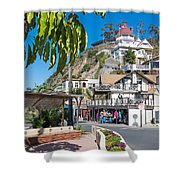 The Town Of Avalon Shower Curtain