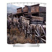 The Town Of Cody Wyoming Shower Curtain