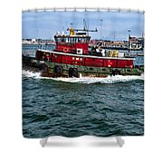 The Town Point Shower Curtain