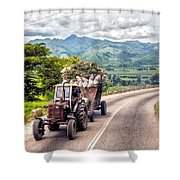 The Tractor Shower Curtain