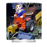 The Tractor Driver Shower Curtain