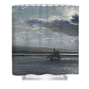 The Traeth Mawr, Moonlight Shower Curtain