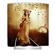 The Train Never Came Shower Curtain