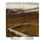 The Trans Alaska Pipeline Shower Curtain