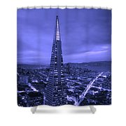 The Transamerica Pyramid At Sunset Shower Curtain