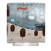 The Traveling Circus Shower Curtain