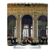 The Treaty Of Versailles Shower Curtain