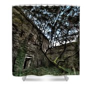 The Tree In The Fort - L'albero Tra Le Mura Del Forte Paint Shower Curtain