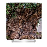 The Tree Of Life Close Shower Curtain