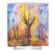The Tree On The Road. 19 March, 2016 Shower Curtain